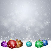 Xmas Balls on Snow — Stock Photo