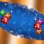 Christmas Blue Background — Stock Photo