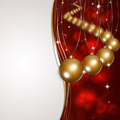 Christmas Golden Balls Hiloday Card — Stock Photo