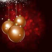 рождественские шарики темно красный праздник фон — Стоковое фото