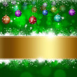 Stock Photo: Green Holiday Background
