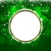 Holiday Green Xmas Greeting Card — Stock Photo
