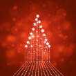 Xmas Holiday Star Tree — Stock Photo