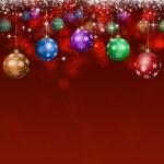 Xmas Holiday Balls Red Background — Stock Photo