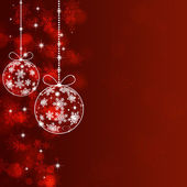 Holiday Red Xmas Greeting Background — Stock Photo