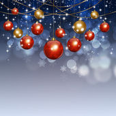 Holiday Xmas Balls Winter Background — Stock Photo