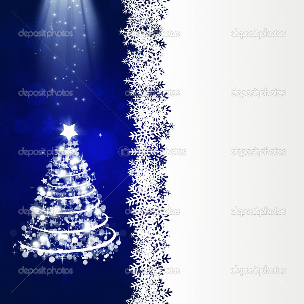 蓝色的大底白点的抽象圣诞庆祝活动背景– 图库图片