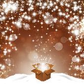 Magic Box with Glitter Stars — Stock Photo