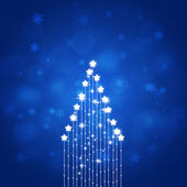 Abstract Blue Xmas Star Tree — Stock Photo