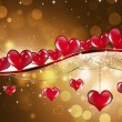 Golden Saint Valentine Greeting Card — Stock Photo