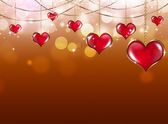 Saint Valentine Red Background — Stock Photo