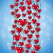 Stock Photo: Red Hearts Holiday Background