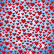 Red Hearts Everywhere — Stock Photo