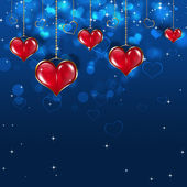 Red Bright Hearts — Stock Photo