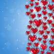 Stock Photo: Bright Hearts Holiday Background