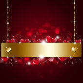 Holiday Valentine Golden Notice Background — Stock Photo