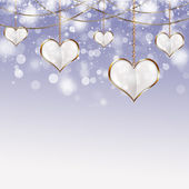 Valentine Golden Hearts — Stock Photo