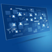 Technology Concept Blue Business Background — Stockfoto
