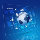 Global Network Blue Background — Stock Photo