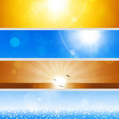 Summer Holiday Banners — Stock Photo