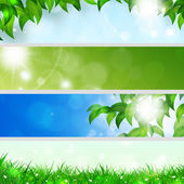 Spring Holiday Banners — Stock Photo