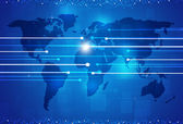 World Digital Connections Blue Background — Stock Photo