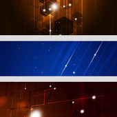 Abstract Technology Banners — ストック写真