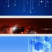 Abstract Technology Banners — Stockfoto