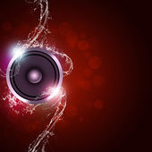 Music Red Background — Stock Photo
