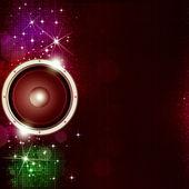 Sound Speakek Disco Background — Stock Photo