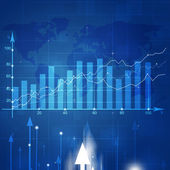 Business Market Stock Diagram — Stock Photo