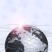Global Web Connections Technology Background — Stock Photo