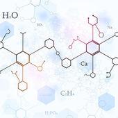 Bright Blue Chemistry Background — Zdjęcie stockowe
