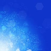 Nauka niebieski tło — Zdjęcie stockowe