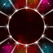 Disco Music Ring with Spotlights — Stock Photo