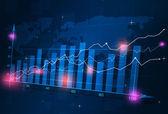 ビジネス株式金融ダイアグラム — ストック写真