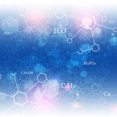 Chemical Abstract Background — Stock Photo