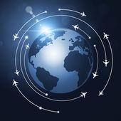 World Aviation Background — Foto de Stock