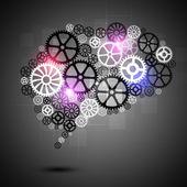 Human Brain Shape Gears Business Background — Stock Photo