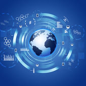 Interface Concept Technology Circle blue Background — Stock Photo