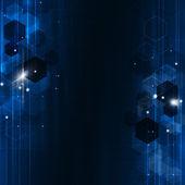 Geometric Blue Technology Background — Stock Photo