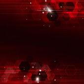 Geometric Red Technology Background — Stock Photo