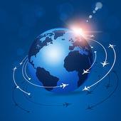 Global Aviation Background — Stock fotografie