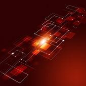 Tecnologia astratto sfondo rosso connessioni — Foto Stock