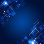 Abstract Connections Blue Technology Background — Foto Stock
