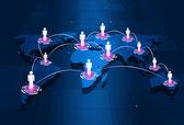 Global People Connections — Zdjęcie stockowe