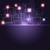 Web communicatie technologie achtergrond — Stockfoto
