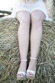 Beautiful woman legs — Stock Photo