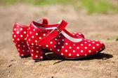 красные туфли для танца фламенко — Стоковое фото