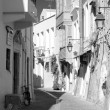The narrow streets of Rethymno. — Foto de Stock